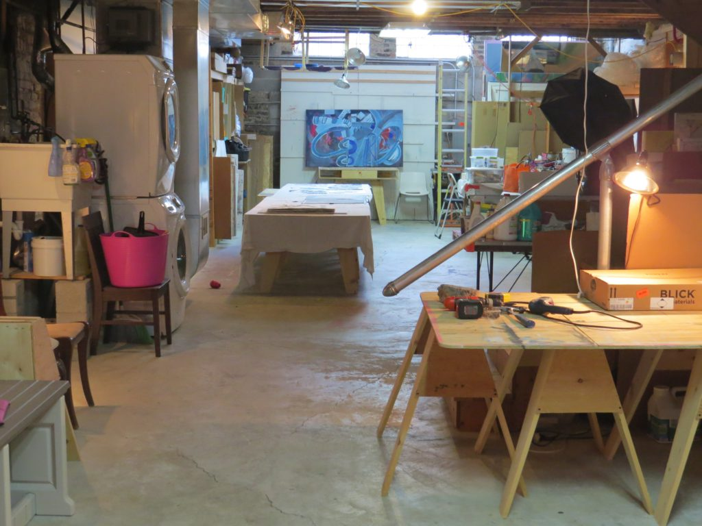 view of studio to right