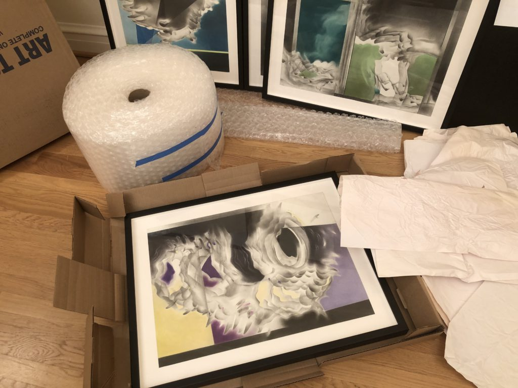 Packing framed drawings for TOAF