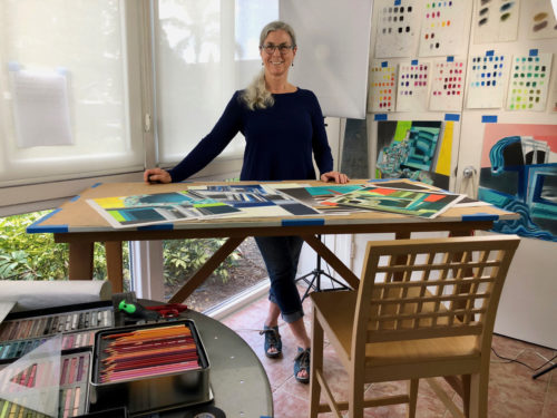 Kate Hendrickson in her Studio