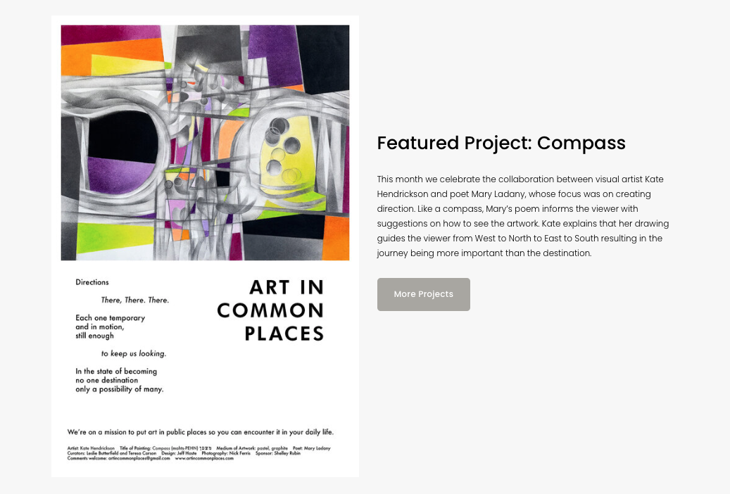 Featured on the Art in Common Places website.